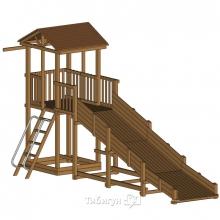 Детская площадка Красная Звезда Можга  с зимней горкой и узкой лестницей