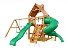 Деревянная детская площадка для дачи Igragrad Шато с трубой 2 (Дерево)