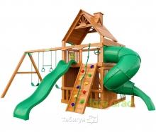 Деревянная детская площадка для дачи Igragrad Шато с трубой 3 (Дерево)
