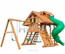 Деревянная детская площадка для дачи Igragrad Крепость Фани Deluxe 2