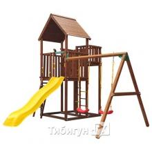 Игровой комплекс Jungle Gym Palace + Swing Module Xtra