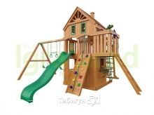 Деревянная детская площадка для дачи Igragrad Навигатор 2 (Домик) с рукоходом