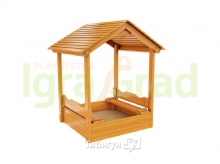 Детская деревянная песочница с крышей