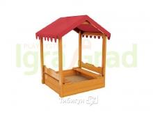 Детская игровая песочница с крышкой и навесом от солнца
