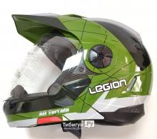 Детский шлем кроссовый трансформер LEGION