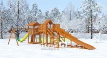 """Детская деревянная зимняя горка SnowFox 5,9 м + """"Gride"""""""