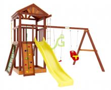 Деревянная детская площадка для дачи Igragrad Панда Фани Gride Color
