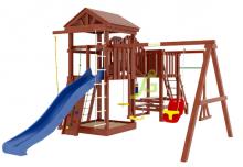 Деревянная детская площадка для дачи Igragrad Панда Фани Мостик