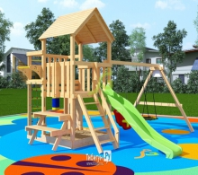 Деревянная детская площадка для дачи IgraGrad Крафт Pro 1