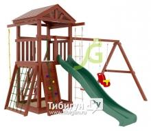 Деревянная детская площадка для дачи Igragrad Панда Фани gride