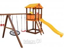 Детский игровой комплекс Perfetto sport Bari-9 + качели Паутина