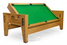 Стол трансформер Twister 3 в 1 дуб (бильярд, аэрохоккей, настольный теннис)