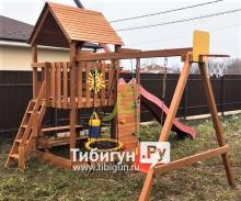 Деревянная детская площадка для дачи IgraGrad Крафт Pro 3