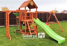 Деревянная детская площадка для дачи IgraGrad Крафт Pro 4