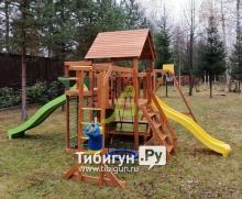 Деревянная детская площадка для дачи IgraGrad Крафт Pro 5