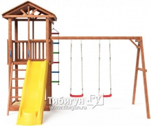 Детский игровой комплекс Красная Звезда Можга Спортивный городок 1 с качелями