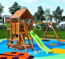 Детская игровая площадка IgraGrad Крафт Pro 3 скат 2 м