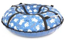 Тюбинг Hubster Люкс Pro Мишки синие 135 см