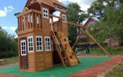 Монтаж детских городков