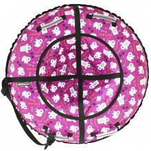 Тюбинг Hubster Люкс Мишки фиолетовый 105
