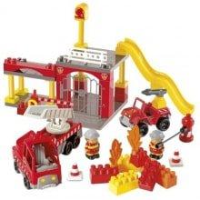 Конструктор пожарная станция Ecoiffier + машина 3149