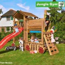 Детский игровой комплекс Jungle Gym Cottage + Train Module
