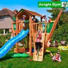 Детский игровой комплекс Jungle Gym Cottage + Boat Module