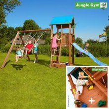 Детский городок Jungle Gym Castle и Swing Module Xtra Rock Modul