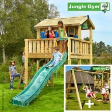Детский городок Jungle Gym Playhouse XL и Swing Module Xtra