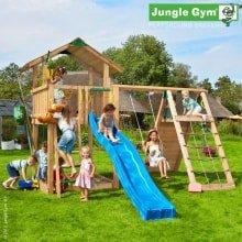 Игровой комплекс Jungle Gym Chalet и Climb Module Xtra