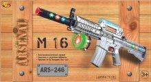 Винтовка М-16 эл/мех 70см на батарейках, со световыми и звуковыми эффектами, ARS-246