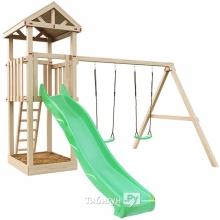 Детская деревянная площадка для дачи Panda с качелями (дерево)